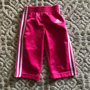 Baby girls 6m adidas pink pants